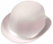купить Шляпа Котелок атласный (белый) цена, отзывы
