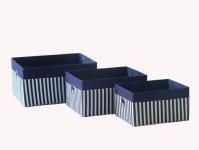 купить Короб Полоси синій 26x20x14см цена, отзывы