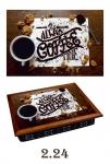 купить Поднос с подушкой кофейная карта цена, отзывы