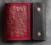 купить Кожаное портмоне с отделением на молнии Red Minimal цена, отзывы