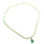 купить Ожерелье нефритовое с кулоном Капелька 33см цена, отзывы