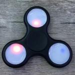 купить Спиннер с подсветкой LED светящийся Черный цена, отзывы