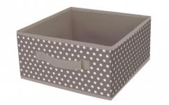 купить Короб квадратный складной Горошек 30х30х15 цена, отзывы