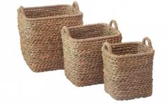 купить Корзина плетеная с ручками 39х39х43 см цена, отзывы