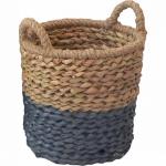 купить Корзина плетеная с ручками Синий отлив 28х29 см цена, отзывы