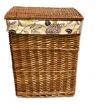 купить Корзина плетеная для белья Цветочки 37Х27 см цена, отзывы