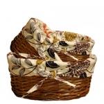 купить Корзина плетеная для вещей Овальная 29х21 см цена, отзывы
