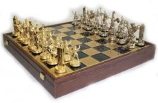 купить Шахматы Manopoulos Греческая мифология в деревянном футляре 54х54 см цена, отзывы