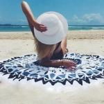 купить Пляжный коврик Mandala light blue 140см цена, отзывы