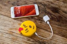 купить Универсальная портативная батарея Power Bank emoji Kiss  цена, отзывы