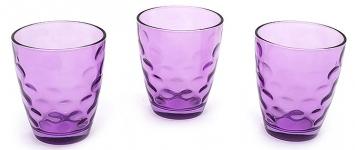 купить Набор стеклянных стаканов Amina фиолетовый цена, отзывы