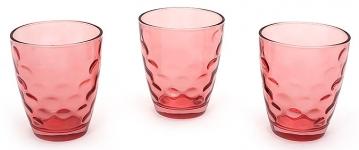 купить Набор стеклянных стаканов Amina красный цена, отзывы
