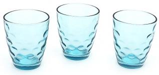 купить Набор стеклянных стаканов Amina голубой цена, отзывы