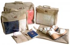 купить Набор дорожных сумок 5 шт (бежевый) цена, отзывы