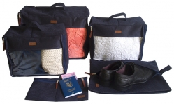 купить Набор дорожных сумок 5 шт (синий) цена, отзывы