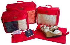 купить Набор дорожных сумок 5 шт (красная) цена, отзывы