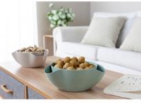купить Двойная миска для семечек,орехов зеленая цена, отзывы