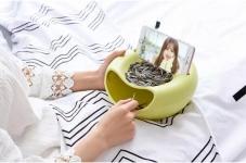 купить Миска для семечек с подставкой для телефона салатовый цена, отзывы