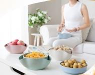 купить Двойная миска для семечек,орехов бежевый цена, отзывы