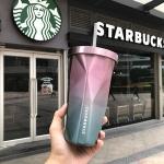 купить Стакан с крышкой и трубочкой гнутый Starbucks Color цена, отзывы