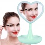 купить Зеркало для макияжа с подсветкой и тайником Сердце Green цена, отзывы