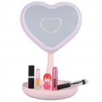 купить Зеркало для макияжа с подсветкой и тайником Сердце Pink цена, отзывы