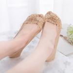 купить Кружевные тапочки-носочки темно-бежевые цена, отзывы