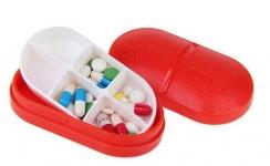 купить Контейнер для таблеток на 6 отделений красный цена, отзывы