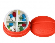 купить Контейнер для таблеток на 4 отделения красный цена, отзывы
