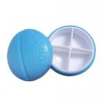 купить Контейнер для таблеток на 4 отделения синий цена, отзывы