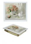 купить Поднос с подушкой букет роз цена, отзывы
