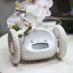 купить Убегающий будильник на колесиках White цена, отзывы