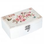 купить Деревянная шкатулка Bouquet of roses цена, отзывы