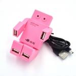 купить USB хаб Робот розовый цена, отзывы