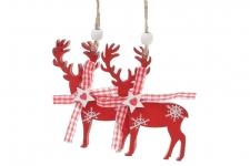 купить Новогодние украшение Красный олень 2 шт цена, отзывы