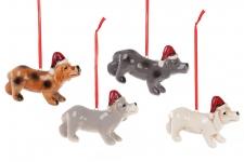 купить Декоративная подвеска собачка в шапке цена, отзывы