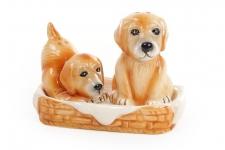 купить Набор солонок собачек на керамической подставке цена, отзывы