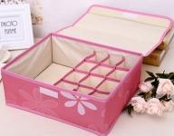 купить Органайзер для белья 13 секций с крышкой Розовый цена, отзывы