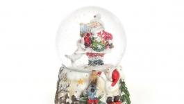 купить Водяной шар Музыкальный Дед Мороз с подарками  цена, отзывы
