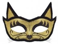 купить Венецианская маска Кошка (золото) цена, отзывы