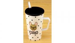 купить Керамическая чашка с крышкой Моя Любимая Собака 3 вида цена, отзывы