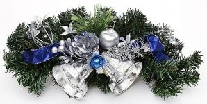 купить Новогодний венок с колокольчиками 35,5 см цена, отзывы