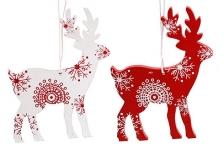 купить Новогоднее украшение Снежные Олени цена, отзывы
