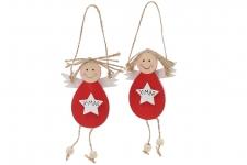 купить Новогоднее украшение Куколка 19 см цена, отзывы