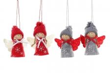 купить Новогоднее украшение Ангелочки 9,5 см цена, отзывы