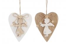 купить Новогоднее украшение Сердце с Ангелом цена, отзывы