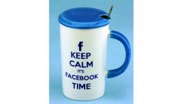 купить Чашка с крышкой ложкой Facebook 4 вида цена, отзывы