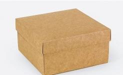 купить Подарочная коробка Крафт 14х14х7 см цена, отзывы