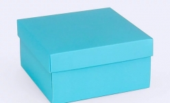 купить Подарочная коробка Blue 14х14х7 см  цена, отзывы