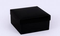 купить Подарочная коробка Grand черная 14х14х7 см цена, отзывы